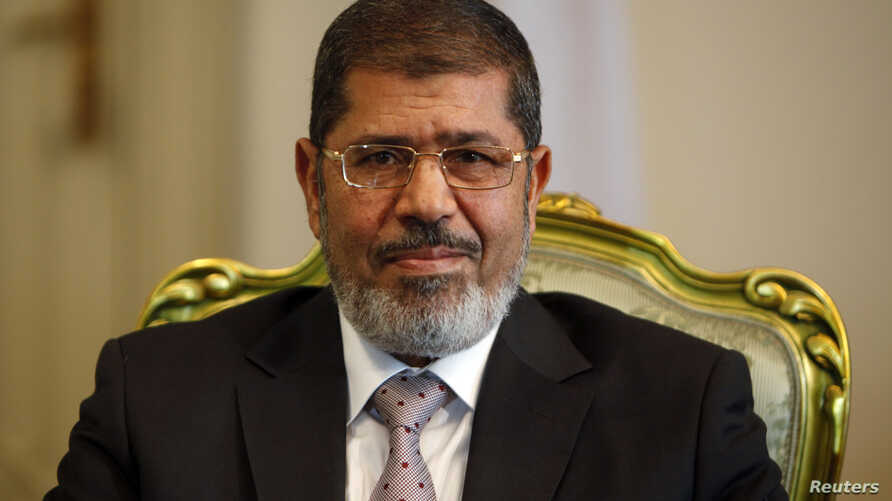 Egypt's President Mohamed Mursi at the presidential palace in Cairo, October 8, 2012 file photo.