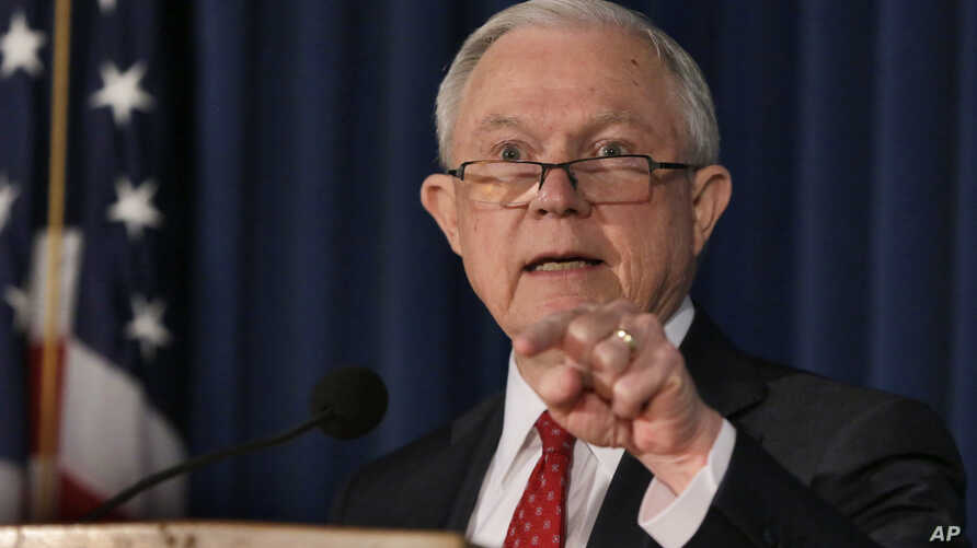 U.S. Attorney General Jeff Sessions delivers remarks about defending national security, at the U.S. Attorney's Office for the Southern District of New York, Thursday, Nov. 2, 2017.