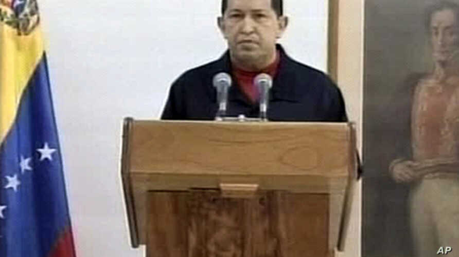 In this picture taken from Venezolana de Television, VTV, via APTN Venezuela's President Hugo Chavez delivers a televised speech aired from Cuba, June 30, 2011