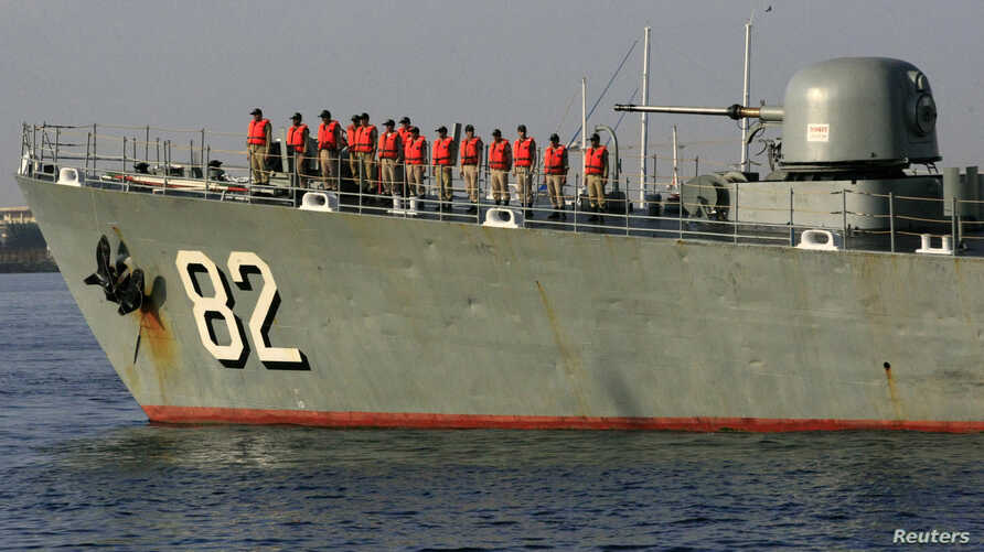 The Iranian Navy destroyer Shahid Naqdi is pictured at Port Sudan at the Red Sea country, Oct. 31, 2012.