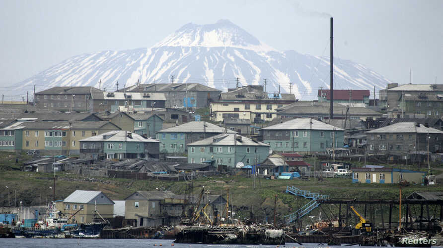 FILE - Kunashiri Island, one of four islands known as the Southern Kuriles in Russia and Northern Territories in Japan