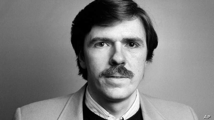 Associated Press newsman Robert Parry is pictured in Washington, D.C., Feb. 1987.