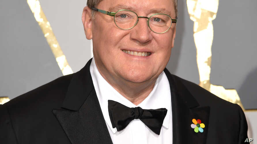 FILE - Pixar co-founder and Walt Disney Animation chief John Lasseter arrives at the Oscars in Los Angeles, CA., Feb. 28, 2016.