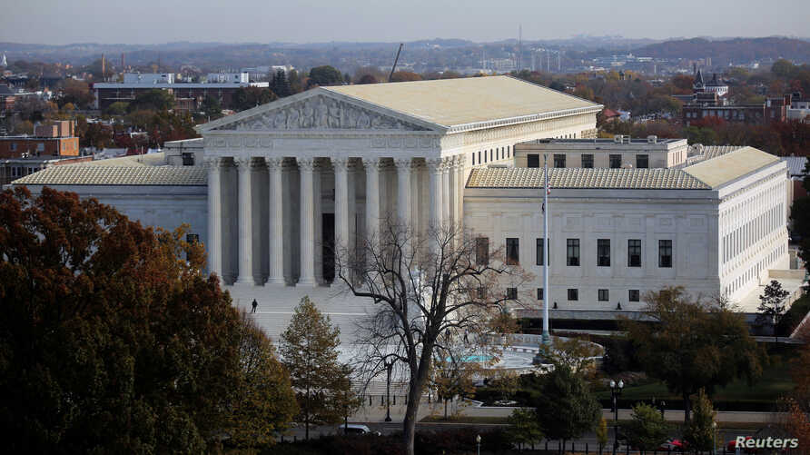 FILE - A general view of the U.S. Supreme Court building in Washington, Nov. 15, 2016.
