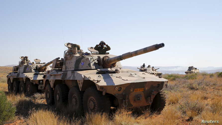 FILE - Soldiers from 22 African nations join exercises as part of the African Union's African Standby Force at the South Africa National Defense Force's Lohatla training area, Oct. 28, 2015.