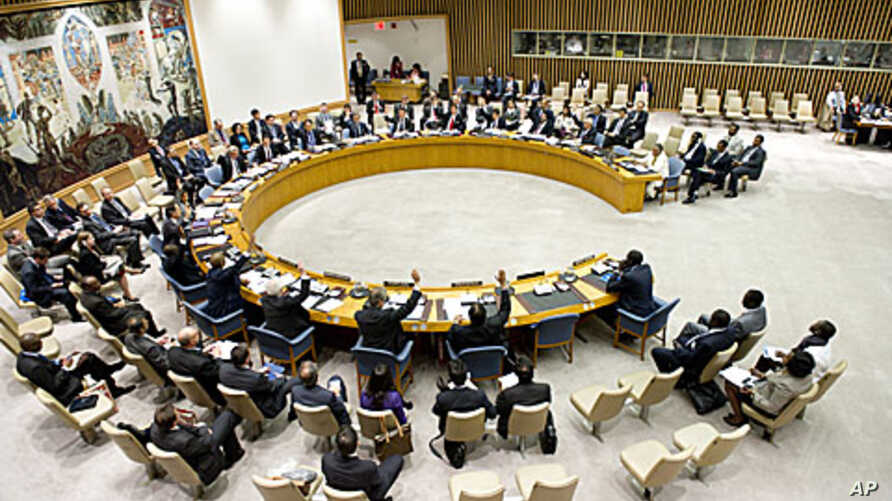General view of UN Security Council meeting, May 2, 2012
