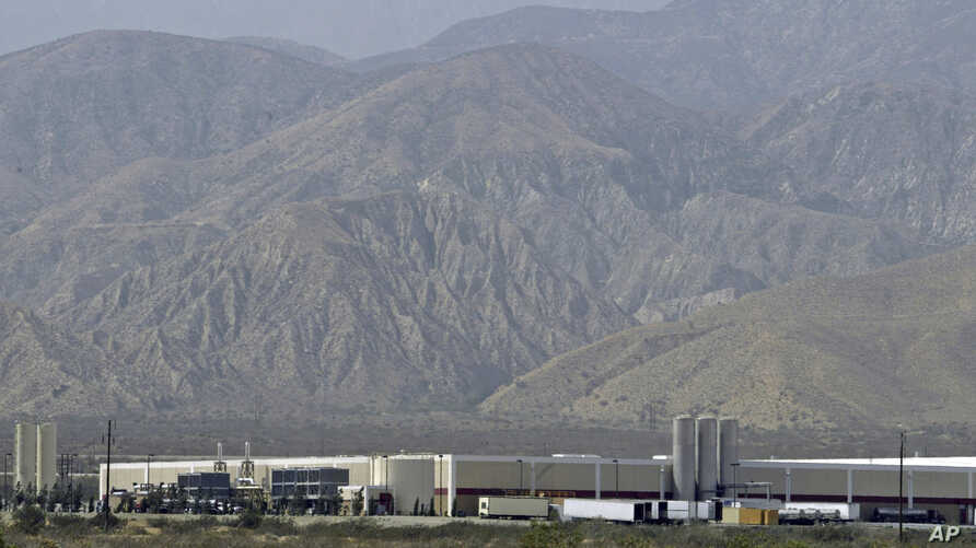 FILE - The Arrowhead Mountain Water Company bottling plant, owned by Swiss conglomerate Nestle, is seen on the Morongo Indian Reservation near Cabazon, California, July, 7, 2004.