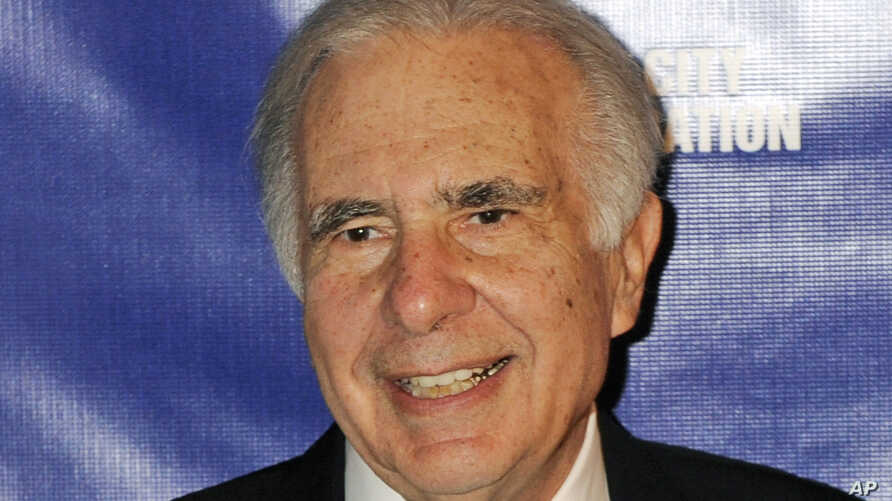 FILE - Financier Carl Icahn is pictured at the annual New York City Police Foundation Gala, March 16, 2010.