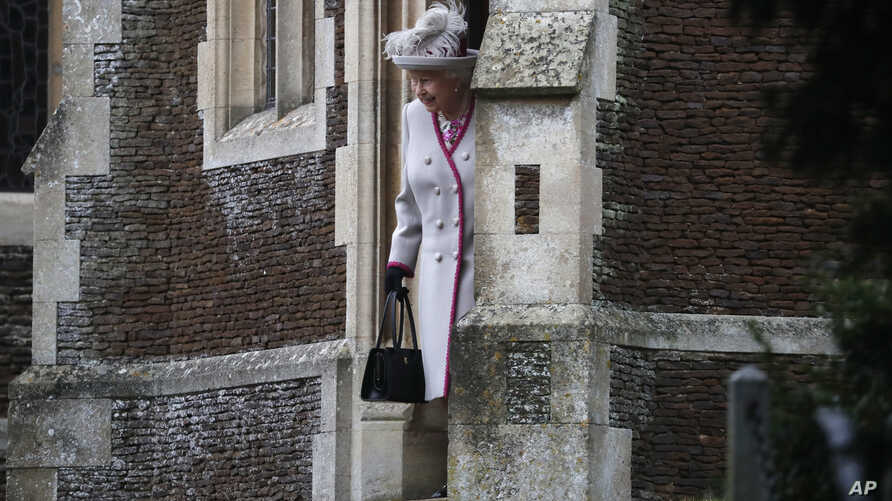Britain's Queen Elizabeth II leaves after attending the Christmas day service at St Mary Magdalene Church in Sandringham in Norfolk, England, Tuesday, Dec. 25, 2018.