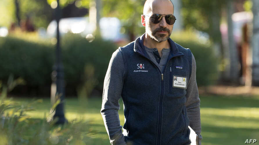 FILE - Dara Khosrowshahi, chief executive officer of Expedia, Inc., attends the annual Allen & Company Sun Valley Conference on July 7, 2016 in Sun Valley, Idaho.