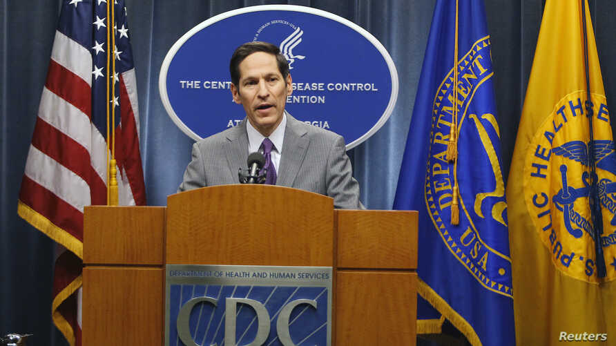 Centers for Disease Control and Prevention Director Dr. Thomas Frieden speaks at the CDC headquarters in Atlanta, Georgia, Sept. 30, 2014.