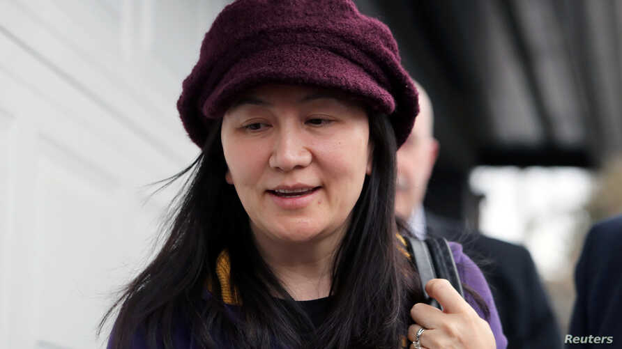 Huawei Technologies Co Chief Financial Officer Meng Wanzhou arrives back at home after her court appearance in Vancouver, British Columbia, Canada, March 6, 2019.