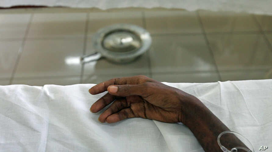 FILE - An AIDS patient in Kinshasa.