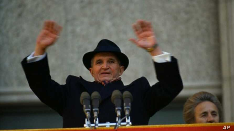 Romanian President Nicolae Ceausescu's  government was overthrown in a December 1989 military coup, and he and his wife were executed