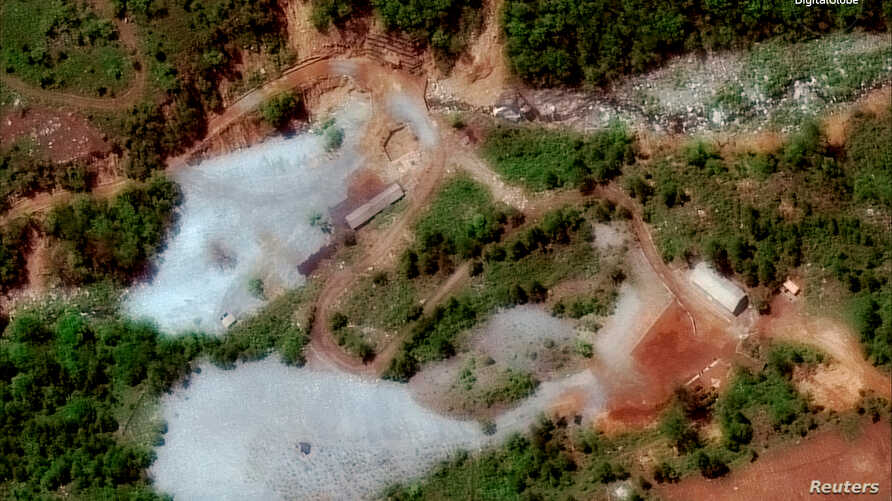 North Korea's Punggye-ri nuclear test facility is shown in this DigitalGlobe satellite image in North Hamgyong Province, North Korea, May 23, 2018.