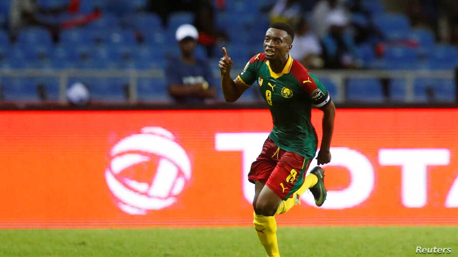 Burkina Faso faces off with Cameroon in the Africa Cup of Nations at the Stade de l'Amitie stadium in Libreville, Gabon, Jan. 14, 2017.