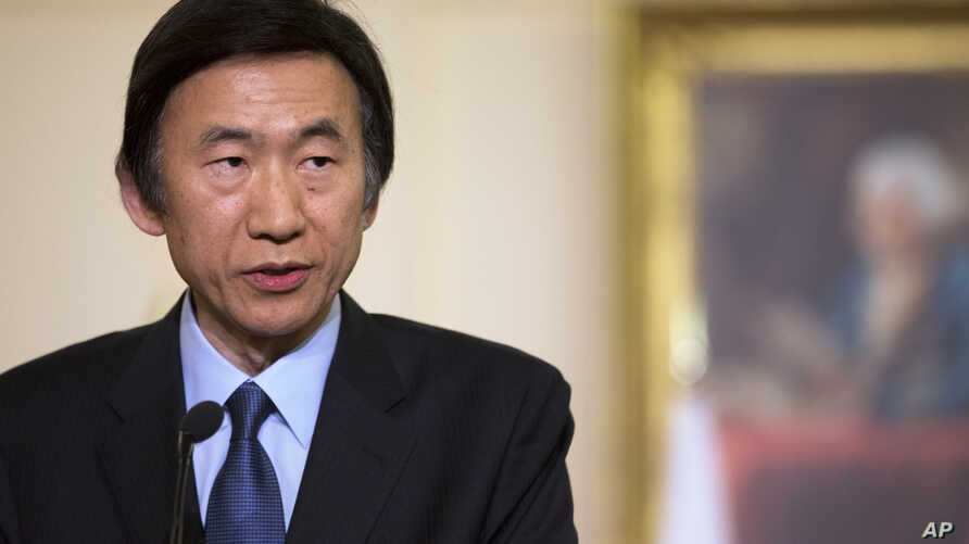 South Korean Foreign Minister Yun Byung-Se speaks during a news conference at the State Department in Washington, April 2, 2013 file photo.