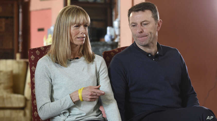 Kate and Gerry McCann, whose daughter Madeleine disappeared from a holiday flat in Portugal 10 years ago, talk during a BBC TV interview in Loughborough, England, April 28, 2017.