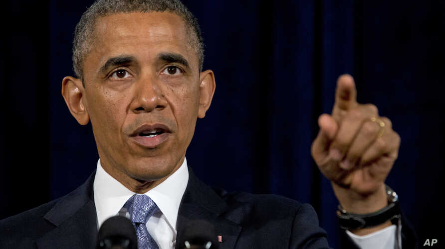 President Barack Obama gestures while speaking in San Jose, California, June 7, 2013. The president defended his government's secret surveillance, saying Congress has repeatedly authorized the collection of America's phone records and U.S. internet u