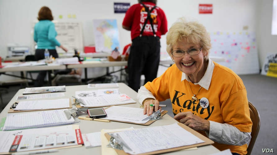 Faith Loudon, Anne Arundel County coordinator and a member of the Republican Central Committee. (Photo: J. Oni / VOA)