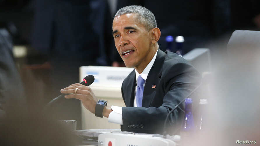 U.S. President Barack Obama opens the first opening plenary session as world leaders gather at the Nuclear Security Summit in Washington  April 1, 2016.