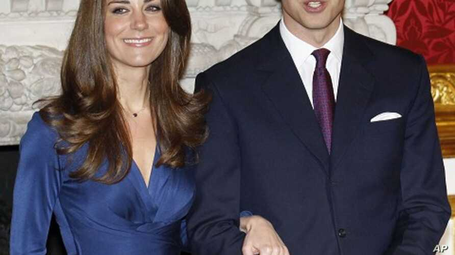 Britain's Prince William and his fiancee Kate Middleton pose for a photograph in St. James's Palace in central London, November 17, 2010