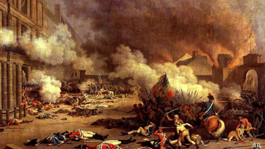 'Empires of Food' author Evan Fraser says the sharp rise in food prices in 2008 and the food riots that followed remind him of the period leading up to the bloody French Revolution. (Prise du palais des Tuileries by Jean Duplessis-Bertaux)