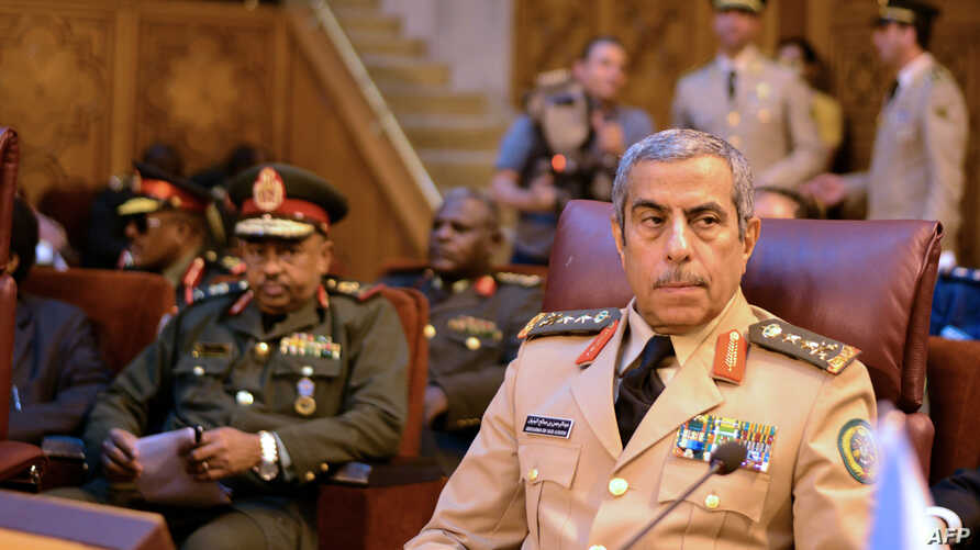 FILE - Saudi Chief of Staff Lt. General Abdulrahman bin Saleh, attends a meeting in the Egyptian capital, Cairo, on May 23, 2015