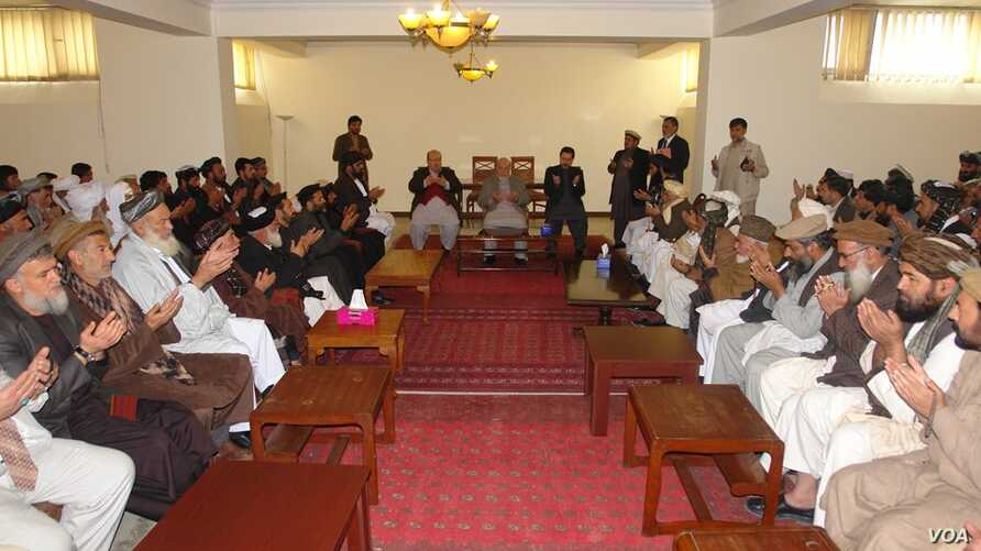 FILE - Members of the Afghan High Peace Council are seen meeting in an undated photo. (Source - hpc.org.af)
