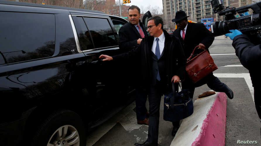 Adriano Juca, Director Legal of Construction Norberto Odebrecht, exits federal court after it was agreed that Odebrecht and petrochemical company Braskem reached a $3.5 billion settlement with the Justice Department in Brooklyn, New York City, Dec. 2