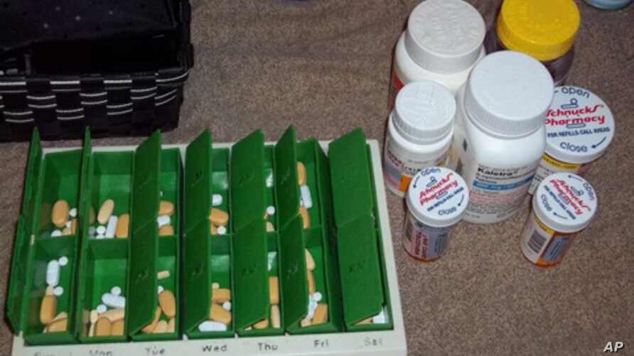 Tamika Taylor Jackson, who is HIV-positive, took this picture of the 17 pills she must take each day.