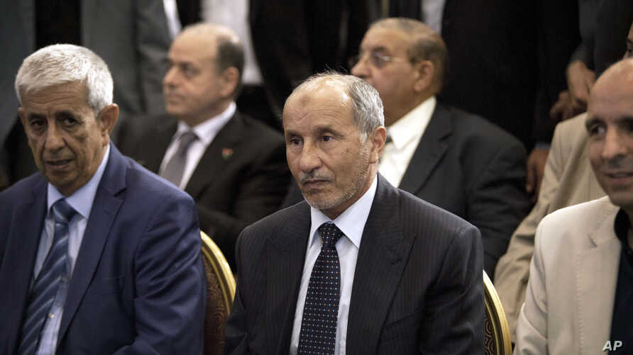 FILE - Mustafa Abdel Jalil, leader of the National Transitional Council (NTC) waits for the final results of the Libyan elections in Tripoli , Libya, July 17, 2012.