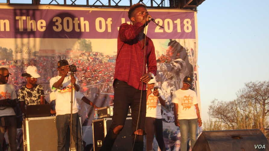 "Zimbabwe's dance hall singer Killer T at the ""Go Out and V"