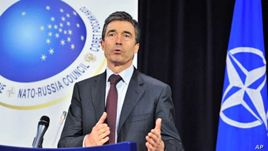 NATO Secretary General Anders Fogh Rasmussen gives a press conference at the end of NATO foreign ministers meeting at NATO headquarters in Brussels, 04 Dec 2009