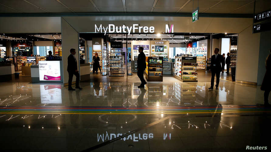 A Duty Free shop inside the new satellite facility for Munich Airport's Terminal 2, southern Germany, April 22, 2016.