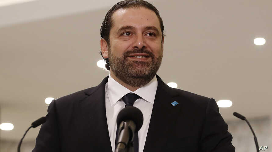 Newly-assigned Lebanese Prime Minister Saad Hariri smiles as he speaks to journalists at the presidential palace in Baabda, east of Beirut, Lebanon, Nov. 3, 2016.