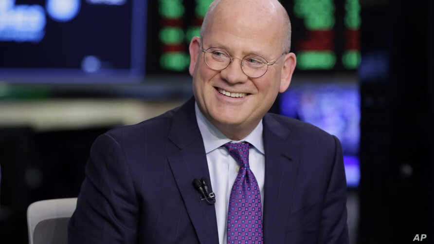 General Electric Chairman & CEO John Flannery is interviewed on the floor of the New York Stock Exchange, June 26, 2018. General Electric said it will shed its health care business and its majority stake in oil services company Baker Hughes over the