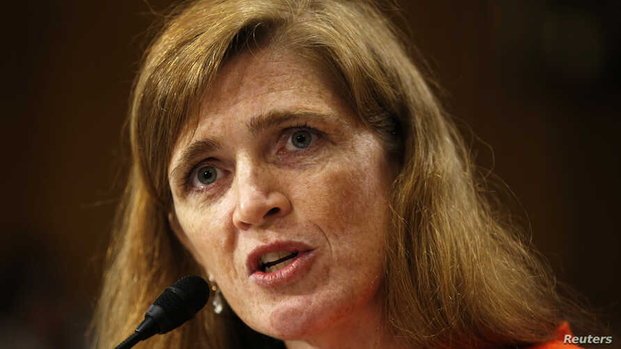 Samantha Power testifies before a Senate Foreign Relations Committee confirmation hearing on her nomination to become the next US ambassador to the United Nations, on Capitol Hill in Washington July 17, 2013.