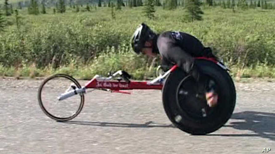 57-year-old Geoffrey Erickson has been determined to overcome limitations ever since a motorcycle accident put him in a wheelchair 33 years ago.   He is one of the main characters in the film.