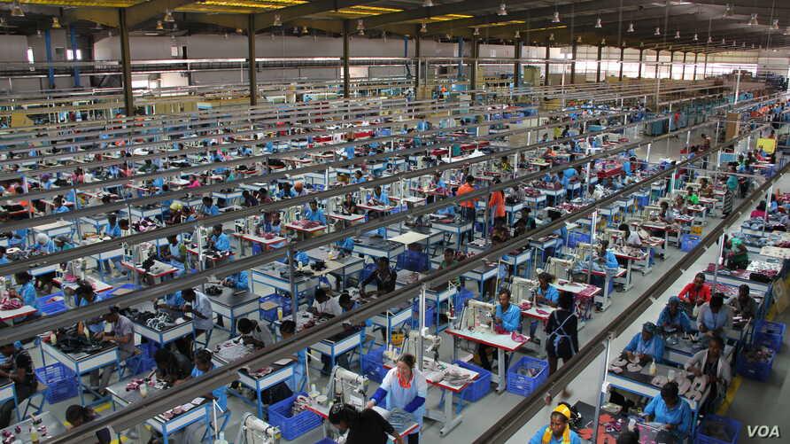 The interior of George Shoe Factory, located in the industrial zone of Addis Ababa, Ethiopia. (VOA)
