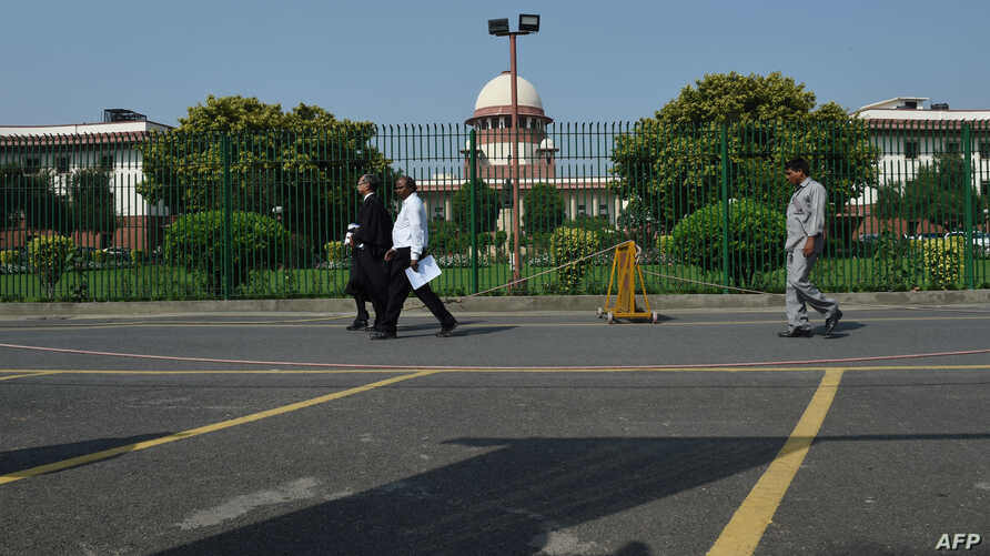 A general view of the Supreme court of India is pictured in New Delhi, Sept. 27, 2018.