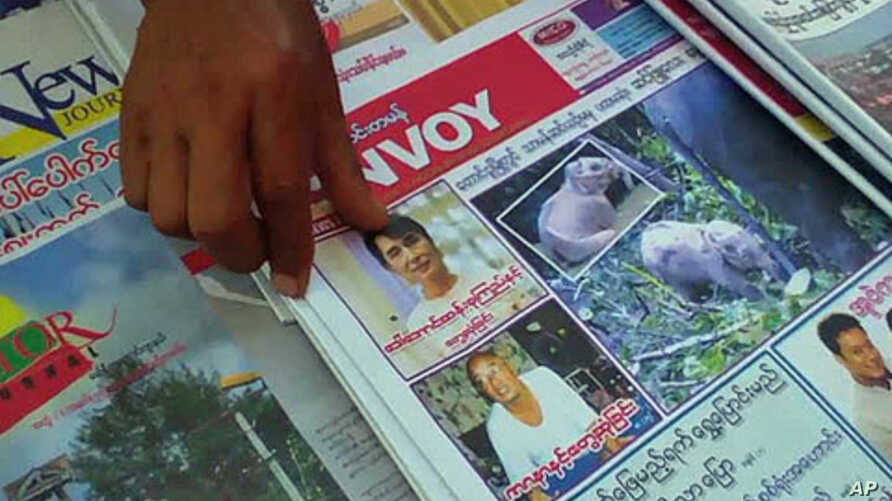 Just months ago it would have been unthinkable to have Burma's democracy leader Aung San Suu Kyi featured in local media, though she recently was featured by various publications as censorship authorities loosen up somewhat, in Rangoon, Burma, Decemb