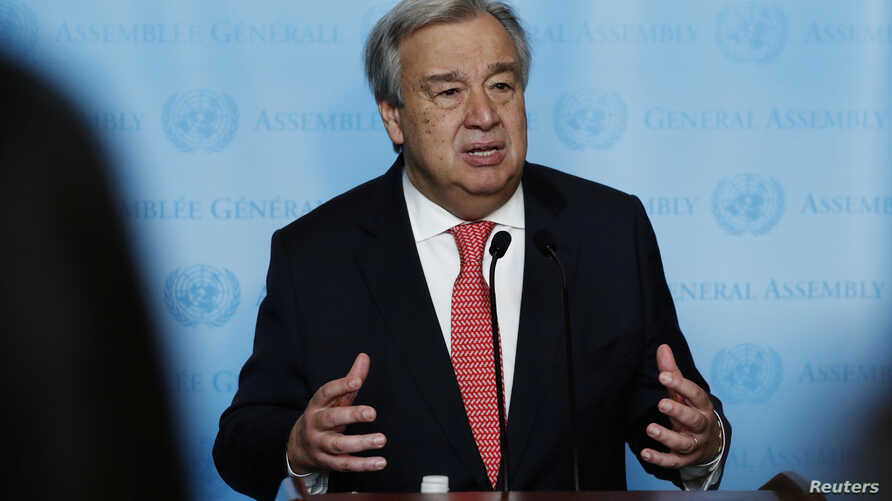 FILE - United Nations Secretary-General-designate Antonio Guterres.