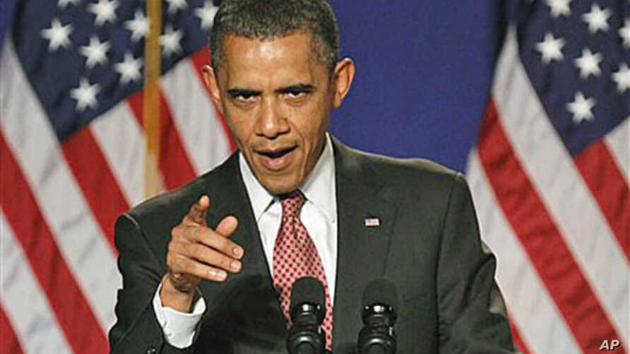 President Barack Obama gestures while speaking in Alexandria, Virginia, facing a potentially destabilizing diplomatic clash when he heads to the United Nations next week, September 16, 2011.