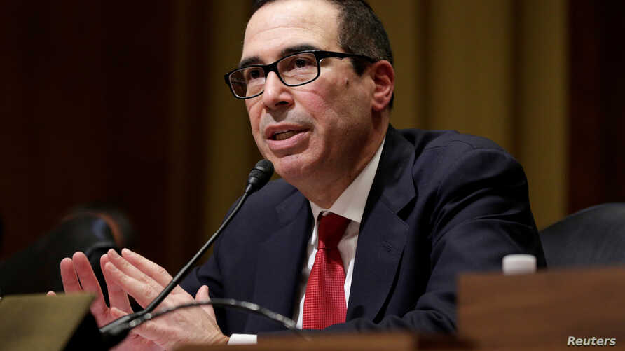 Steven Mnuchin testifies before a Senate Finance Committee confirmation hearing on his nomination to be Treasury secretary in Washington, Jan. 19, 2017.