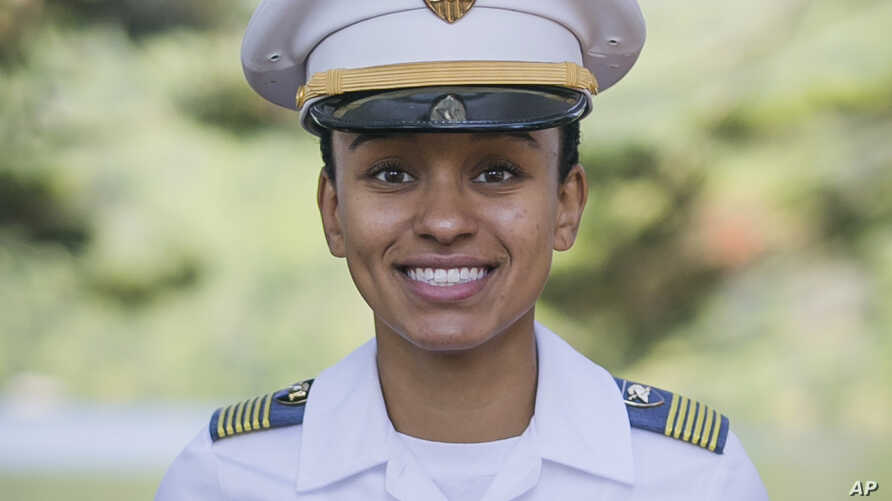 In this Aug. 3, 2017, image provided by the U.S. Army, West Point Cadet Simone Askew poses for a photo.