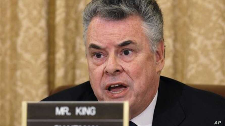 Representative Peter King, chairman of the House Homeland Security Committee, on Capitol Hill in Washington, March 10, 2011