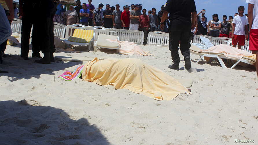 At least 27 people, including foreign tourists, were killed when at least one gunman opened fire on a Tunisian beachside hotel in the popular resort of Sousse, Tunisia, June 26, 2015.