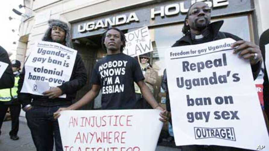 Ugandans demonstrate last year at their country's embassy