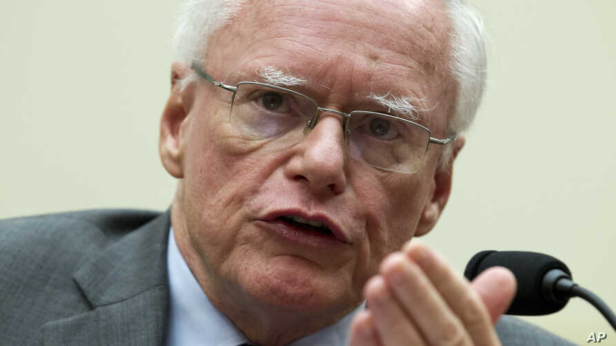 Former U.S. Ambassador to Iraq James Jeffrey speaks during a hearing on Iran before the House Foreign Affairs Committee at Capitol Hill in Washington on Oct. 11, 2017.